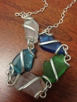 Necklace made of sea glass.